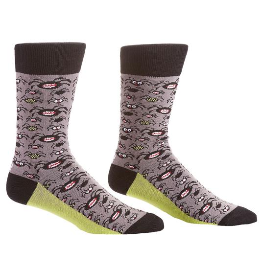 Tarantulas Men's Crew Socks by Yo Sox