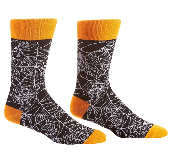 Webs Men's Crew Socks by Yo Sox