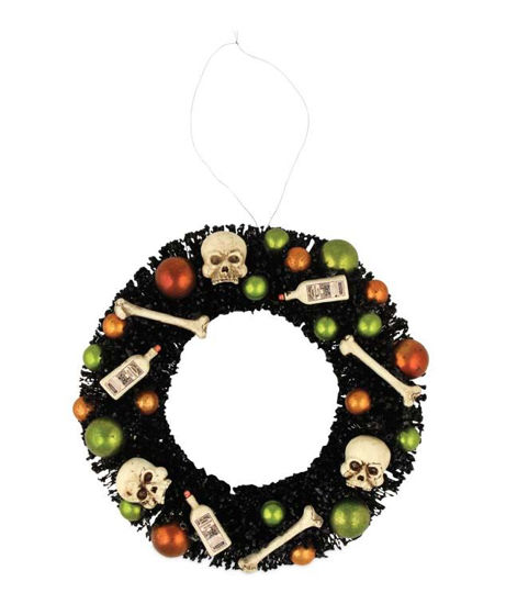 Halloween Bottles and Bones Wreath by Bethany Lowe Designs