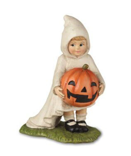 Little Ghost Gabby with Pumpkin by Bethany Lowe Designs