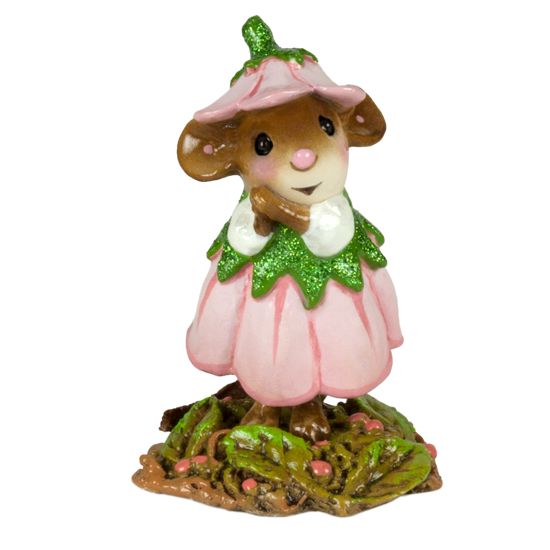 April Flower Mouse of the Month M-640d by Wee Forest Folk