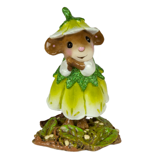 May Flower Mouse of the Month M-640e by Wee Forest Folk