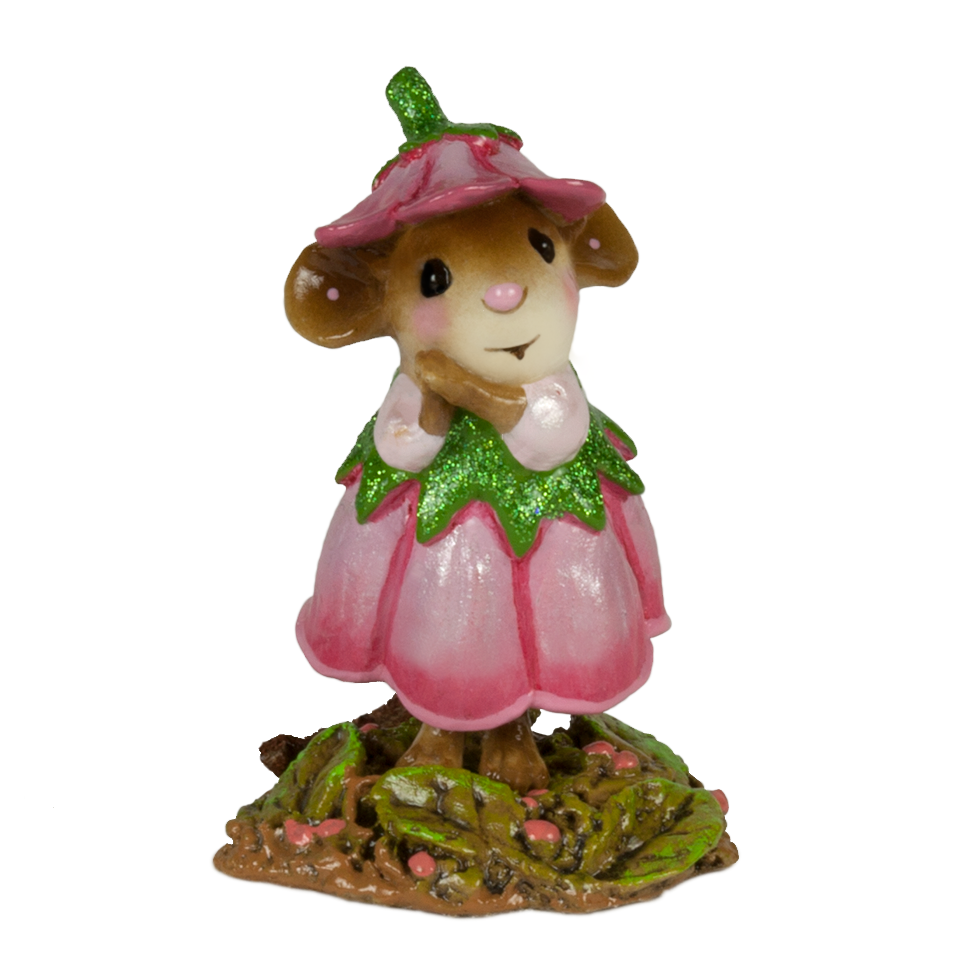 June Flower Mouse of the Month M-640f by Wee Forest Folk