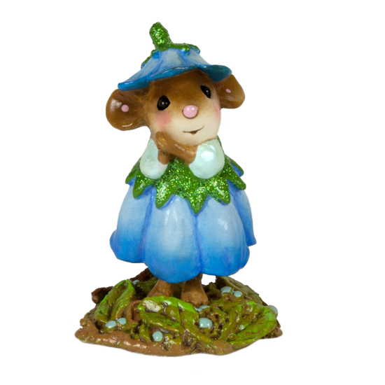 July Flower Mouse of the Month M-640g by Wee Forest Folk