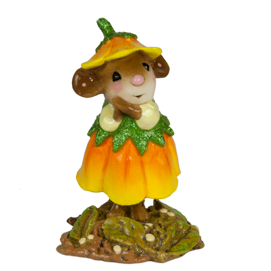 October Flower Mouse of the Month M-640j by Wee Forest Folk