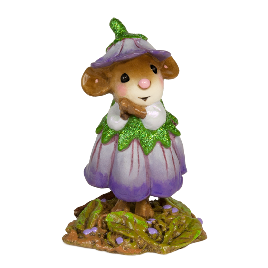 February Flower Mouse of the Month M-640b by Wee Forest Folk