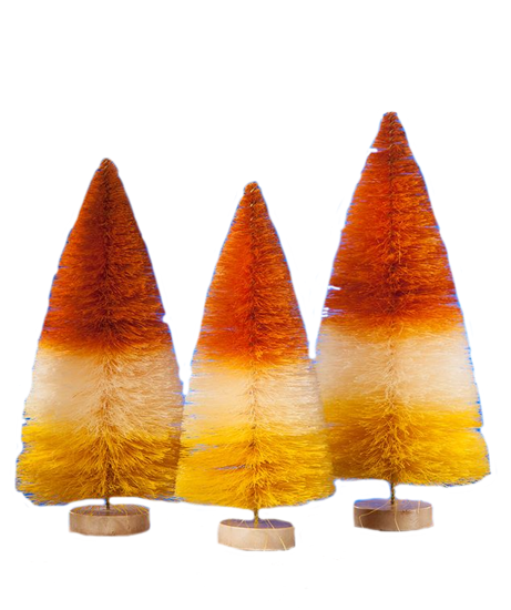 Happy Halloween Bottle Brush Trees by Bethany Lowe Designs