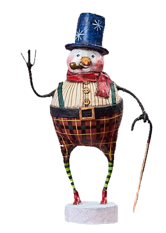 Good Tidings Snowman by Lori Mitchell