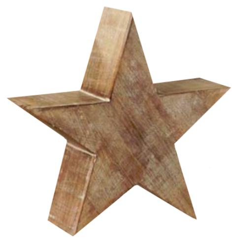 Whitewash Star, Medium by Bethany Lowe Designs