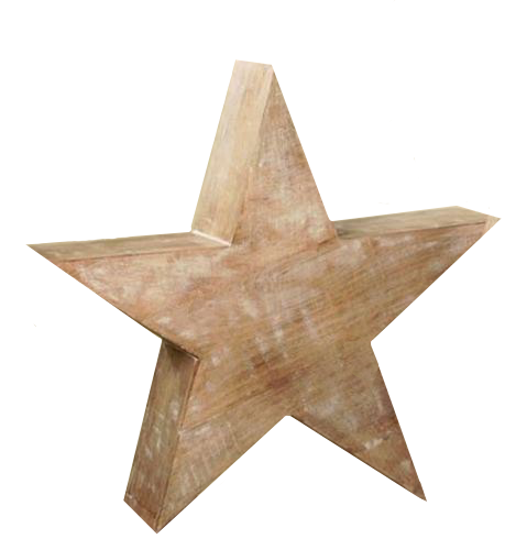 Whitewash Star, Large by Bethany Lowe Designs