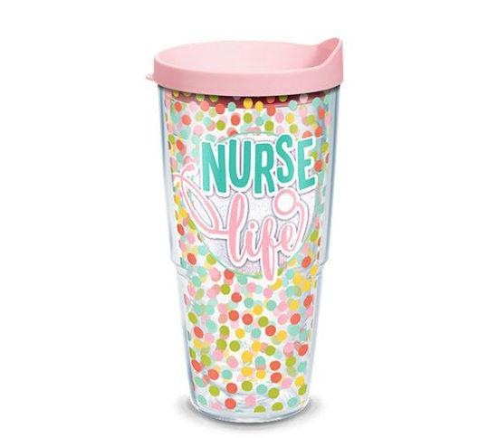 Nurse Life Polka Dots Wrap 24oz by Tervis