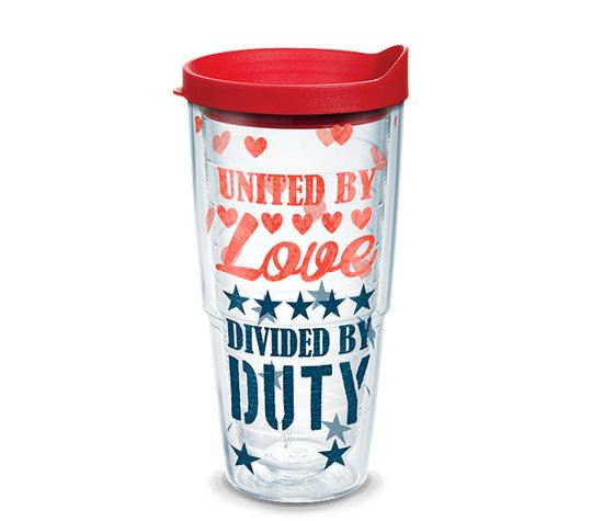 United by Love Divided by Duty Wrap 24oz Tumbler by Tervis