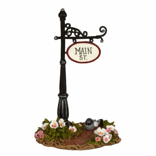 Main Street Sign Post A-49 by Wee Forest Folk