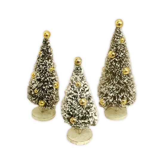 Gold Bottle Brush Trees Set by Bethany Lowe