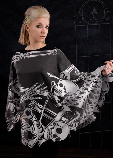 Rest in Pieces Poncho by Heritage Lace