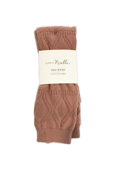 Snug It Out Tall Socks (Mauve) by Simply Noelle