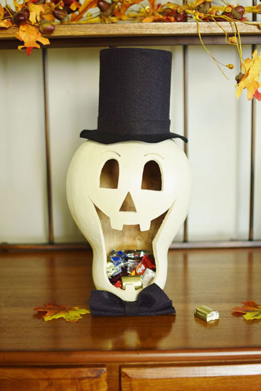 Skully the Skeleton Candy Dish Large by Meadowbrooke Gourds