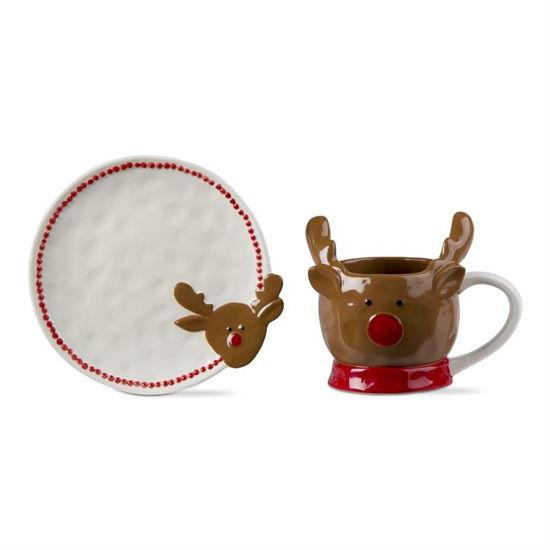 Jolly Reindeer Mug & Plate Set of 2 by TAG
