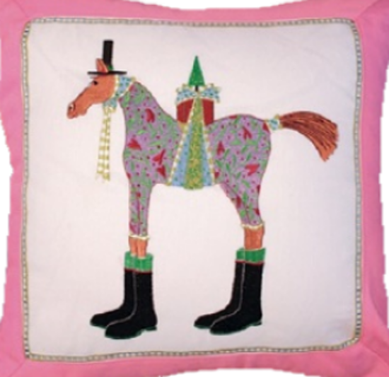 Marcel Horse Pillow by Patience Brewster