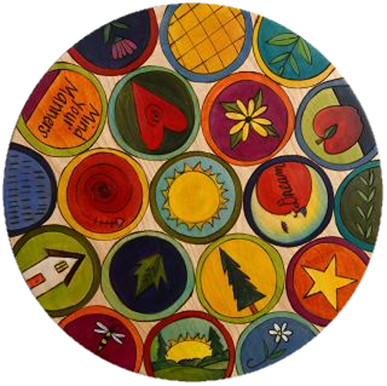 Mind Your Manners Lazy Susan by Sticks