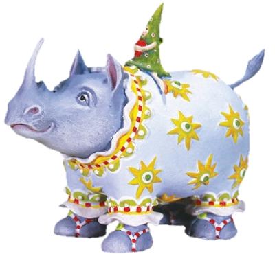 Roberta Rhino Figure by Patience Brewster