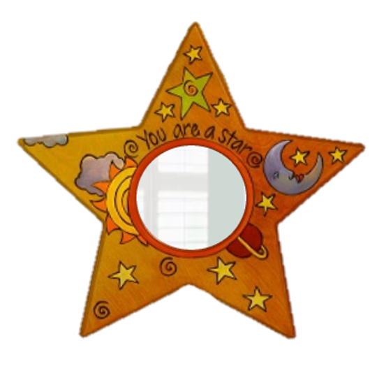 Star Shaped Mirror by Sticks
