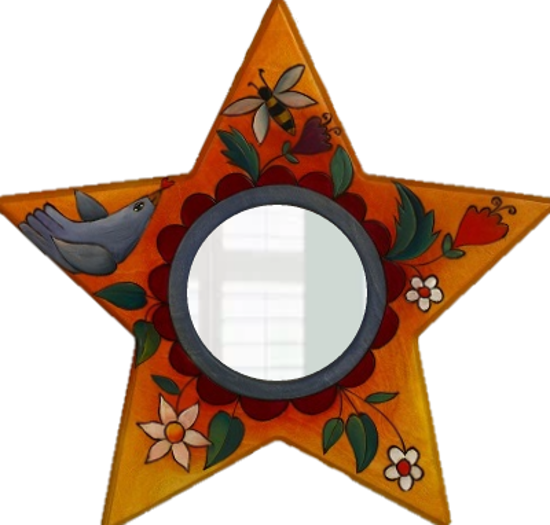 Star Shaped Mirror by Sticks