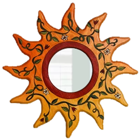 Sunburst Shaped Small Wood Mirror by Sticks