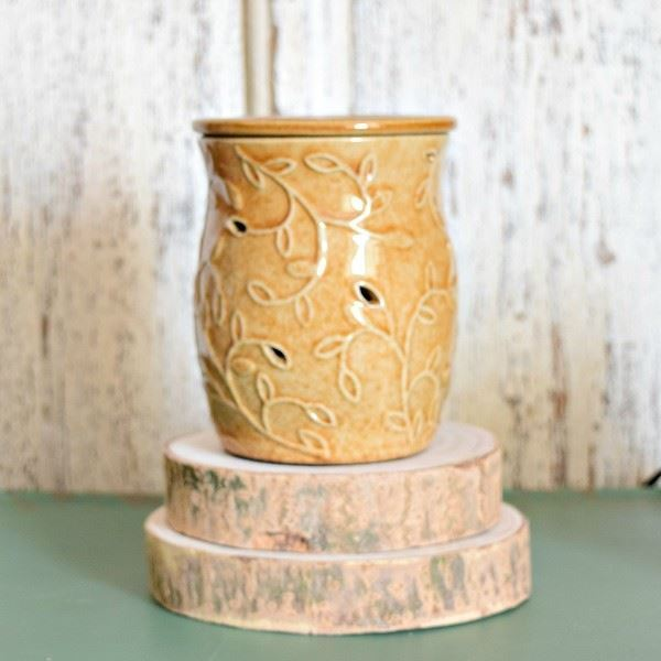 Mustard Wild Vine Electric Wax Warmer by 1803 Candles