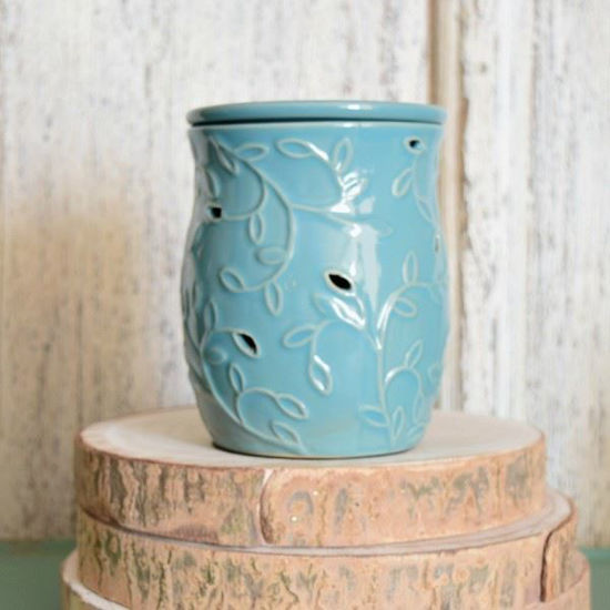 Blue Wild Vine Electric Wax Warmer by 1803 Candles