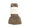 Needle Point Tall Socks (Taupe) by Simply Noelle