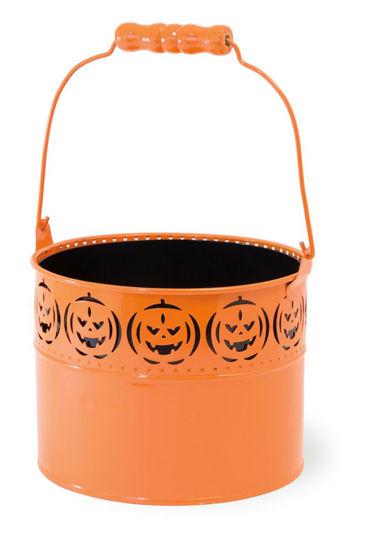 Orange Pumpkin Pail by Boston International