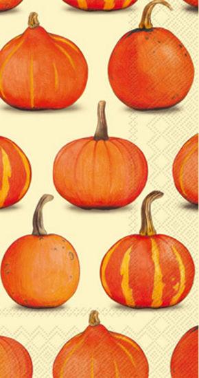Pumpkin Party Cream Guest Towel by Boston International