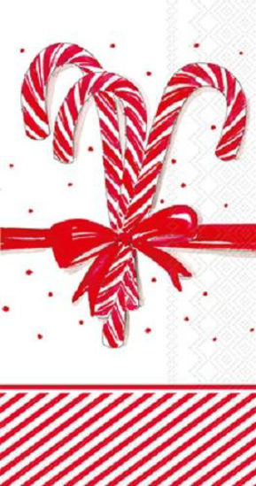 Candy Canes Guest Towel by Boston International