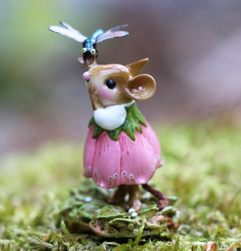 Pretty Perch in Pink M-643 by Wee Forest Folk