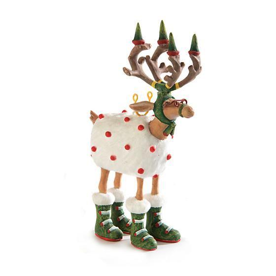 Dash Away Blitzen Mini Ornament by Patience Brewster