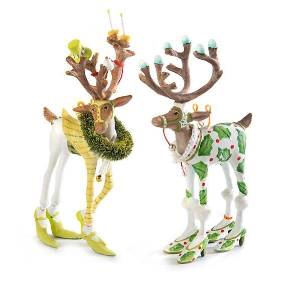 Dash Away Vixen Mini Ornament by Patience Brewster