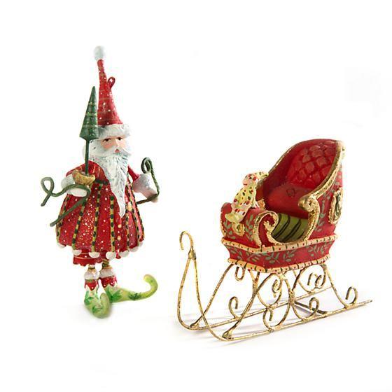 Dash Away Santa Mini Ornament by Patience Brewster
