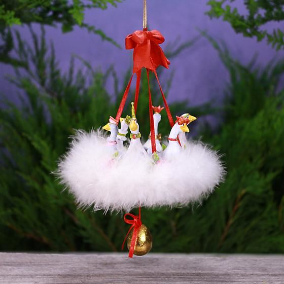 12 Days 6 Geese Ornament by Patience Brewster