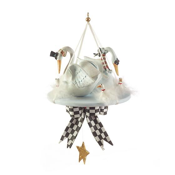12 Days 7 Swans Ornament by Patience Brewster