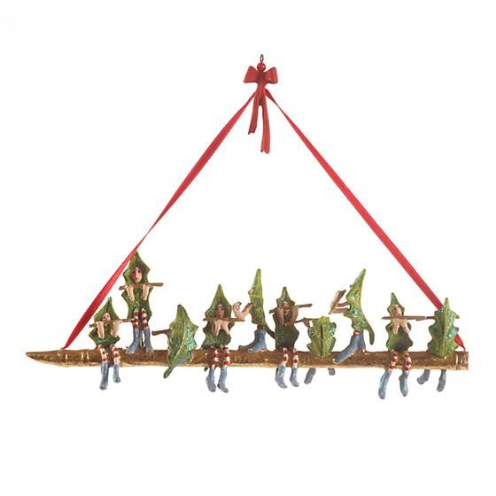 12 Days 10 Pipers Ornament by Patience Brewster