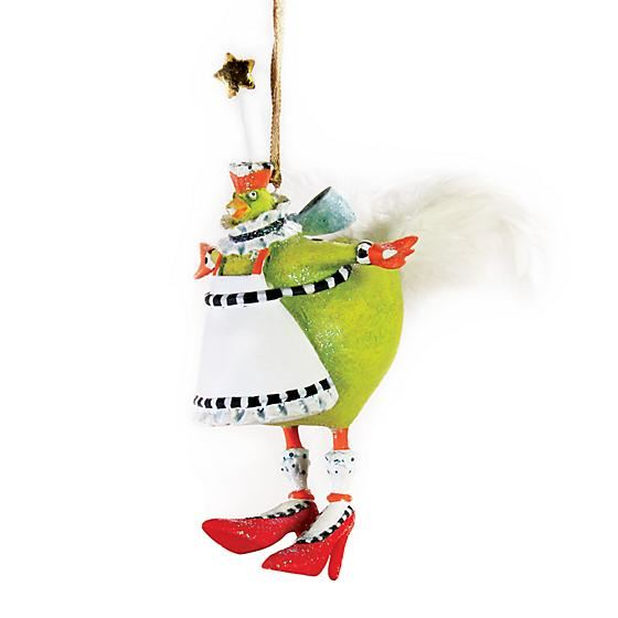French Hen Mini Ornament by Patience Brewster