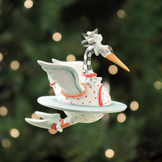 Swan Mini Ornament by Patience Brewster