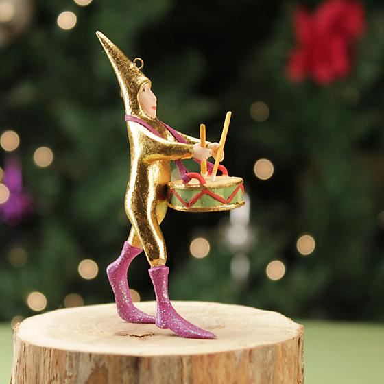 Drummer Mini Ornament by Patience Brewster