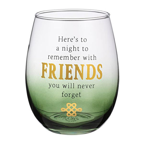 Friends Stemless Wine Glass by Grasslands Road
