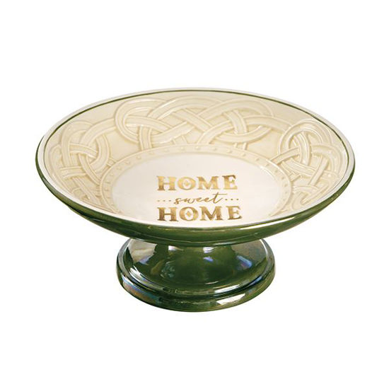 Home Sweet Home Pedestal Dish by Grasslands Road