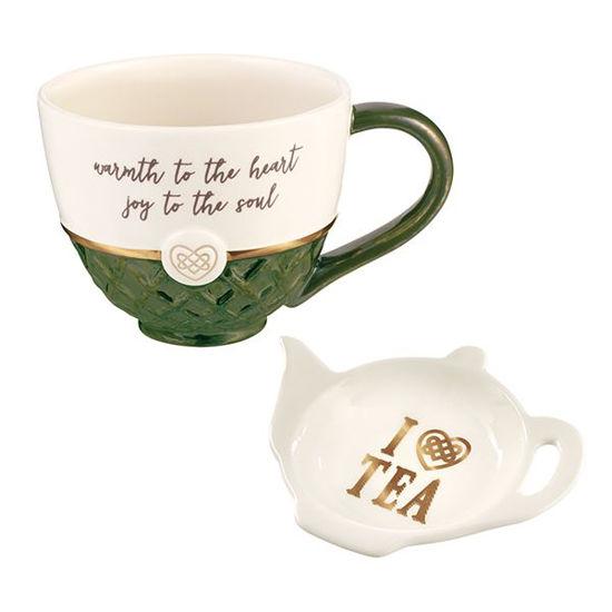 Teacup and Teabag Holder Set by Grasslands Road