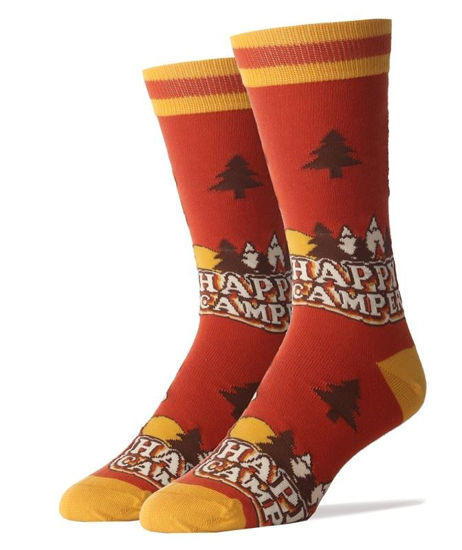 Happy Camper Men's Socks by OOOH Yeah Socks