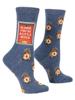 Alarm Women's Crew Socks by Blue Q
