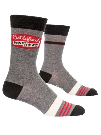 Certified Pain Men's Crew Socks by Blue Q
